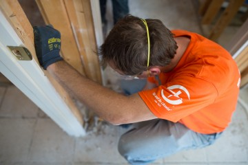 """Go and do likewise"" in Louisiana. A Samaritan's Purse volunteer at work in Louisiana after recent flooding."