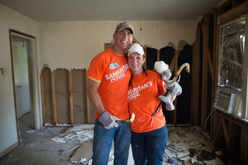 Samaritan's Purse volunteers serve homeowners in flooded Louisiana. West Monroe