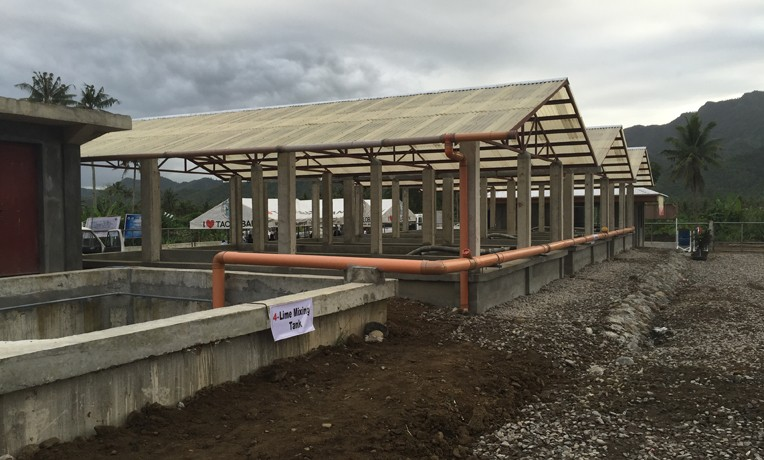 Samaritan's Purse helped in the construction of this brand-new sanitation facility in Tacloban. WASH Philippines