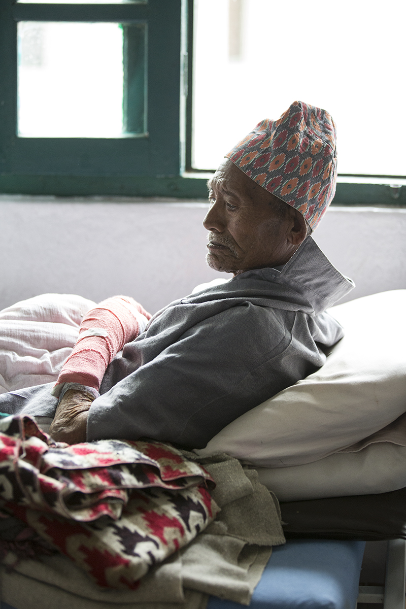 90 year-old man who survived the 1934 and 2015 Nepal earthquakes