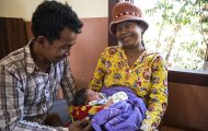 Lom Sohkhom, 22, gave birth to her daughter at a community birthing center provided by Samaritan's Purse.