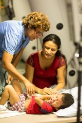 Samaritan's Purse treating patients at our field hospital in Chone, Ecuador