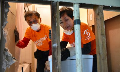 First-time Samaritan's Purse volunteers, Larry and Helen Tanaka, recently relocated from California to Texas. The couple was eager to help the people in their new hometown.