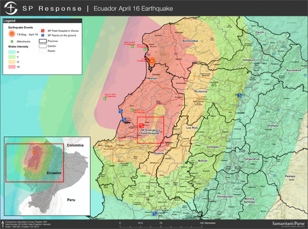 Ecuador 2016 Earthquake Map