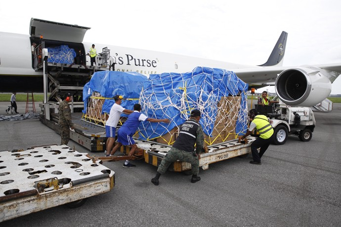 The DC-8 landed in Ecuador with its first shipment on Wednesday, April 20. Samaritan's Purse is establishing an emergency field hospital in Chone, along the country's devastated coast.