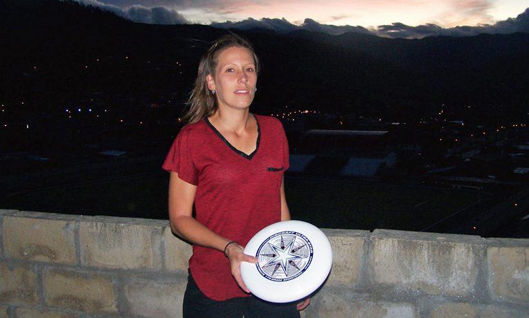 Ari with frisbee
