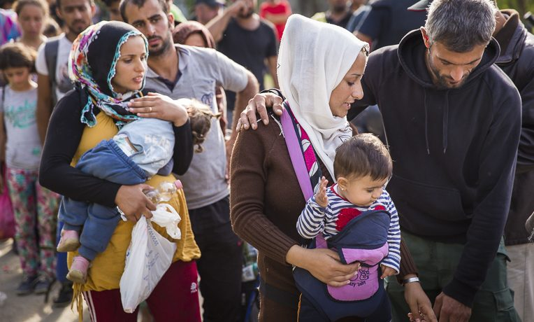 Refugees stranded in Greece. Samaritan's Purse is helping provide relief in the midst of crisis.