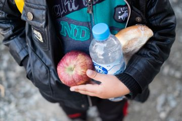 Europe, Greece, refugee crisis, Simple meals distributed by Samaritan's Purse and other organizations have often been the only source of sustenance for refugee families.