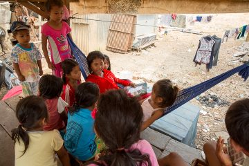 Thida enjoys teaching children about the Bible.