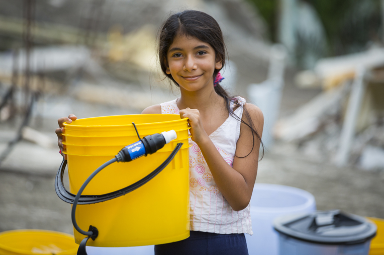 Samaritan's Purse, relief, water. The people of Ecuador are grateful for access to clean water following the April earthquake.