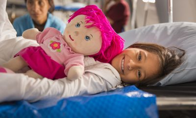 A patient smiles at our emergency field hospital in Ecuador. Samaritan's Purse is helping victims of the Ecuador earthquake.
