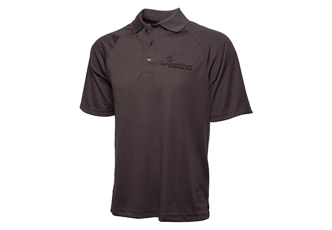 Men's Moisture Management Polo Shirt, Black