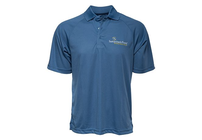 Men's Moisture Management Polo Shirt, Blue