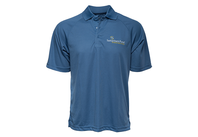 Men's Moisture Management Polo Shirt, Blue