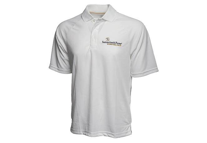 Men's Moisture Management Polo Shirt, White