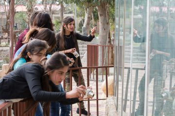 Yazidis, ministry, northern Iraq. The photography class made a field trip to the local zoo.