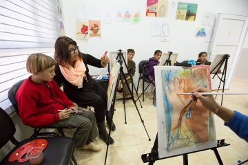 Art classes through our community center in northern Iraq can help children process trauma.