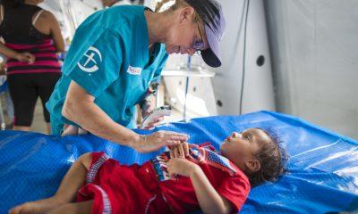 Samaritan's Purse set up a field hospital in Ecuador to help earthquake survivors.