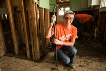 Faith Simms volunteered for the first time with Samaritan's Purse. She saw the devastation unfold while on a business trip with her husband in a neighboring community.