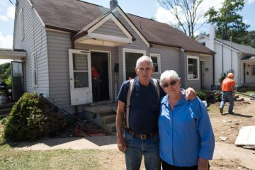 """Volunteers cleaned Carole and Kaster Ramsey's home of debris. """"We aren't the only ones hurting. Those people lost their lives."""""""