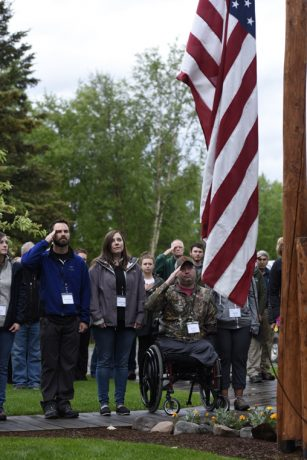 Military couples remembered fallen service members on Memorial Day.