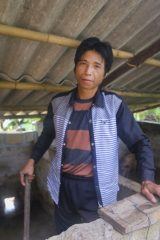 Through our livelihood project Kien learned how to raise and sell pigs for extra income.