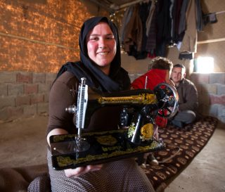 Sewings classes taught at the Northern Iraq Community Center are benefiting Yazidi families.