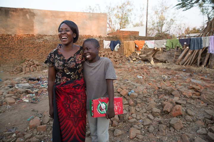 Shukuran and his mother Agnes live in Malawi and received Jesus Christ as Lord and Savior through the outreach of Operation Christmas Child.