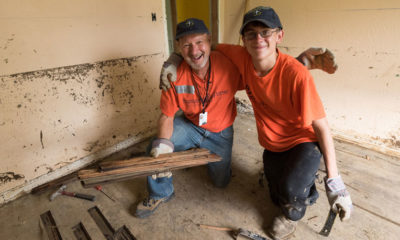Samaritan's Purse volunteers help in West Virginia after flooding.