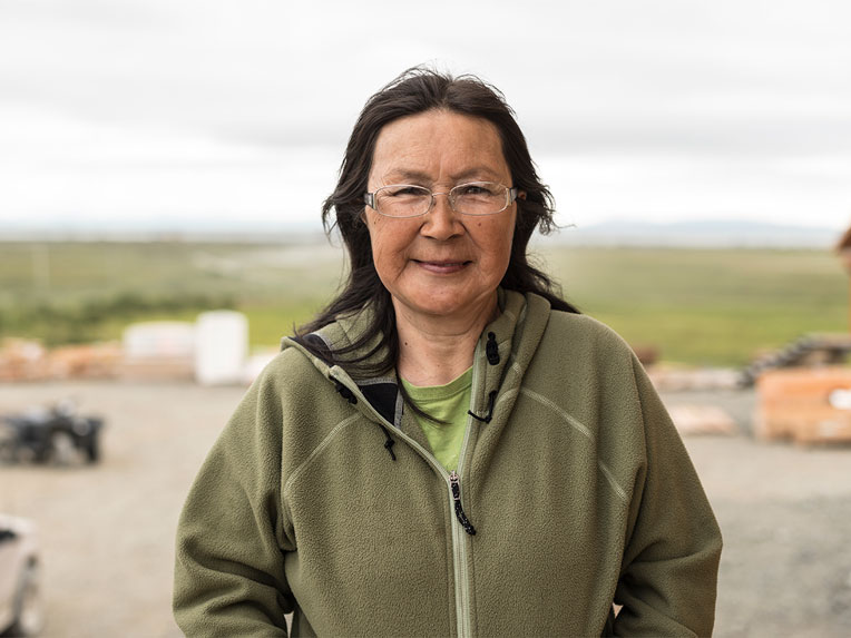 Nellie Thomas is a native Yup'ik living in Togiak, Alaska.