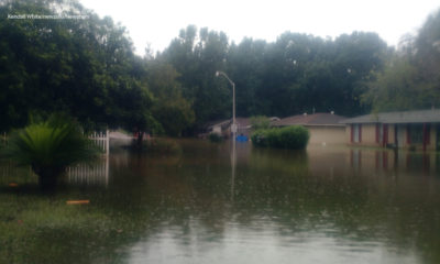A flooded neighborhood in Louisiana