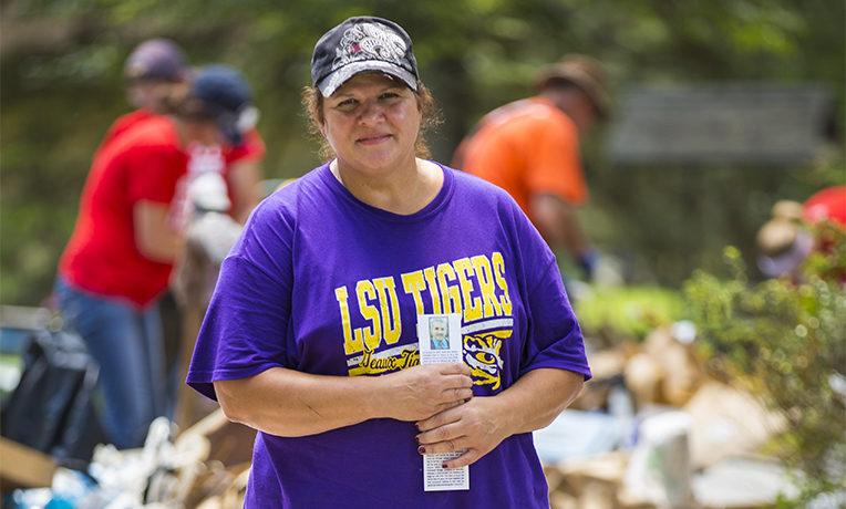 Elizabeth, Louisiana homeowner and flood victim