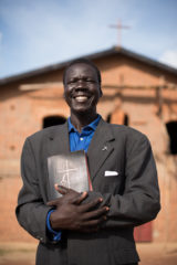 The Reverend Simon Deng Dut Chok, secretary of the Aweil Diocese for the Episcopal Church of South Sudan, is still overcome by emotion when he remembers what his people have suffered.