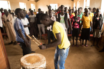 Christians worship in one of the more than 500 churches built in partnership with Samaritan's Purse.