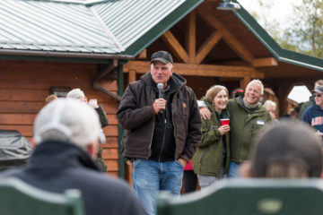 Franklin Graham addressed couples before they left Alaska and told them about our followup program.