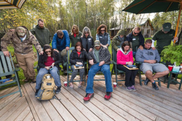 Our staff prays for each week's military couples before they leave Samaritan Lodge Alaska.