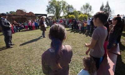 morning distribution at Iglesia Bautista Campo Verde in Capiata