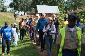 Franklin Graham, Greta Van Susteren, and Samaritan's Purse staff members came to observe some of our projects in the Foya area.