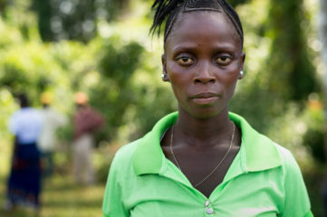 Hawa, an Ebola survivor, now benefits from one of our projects in Foya.