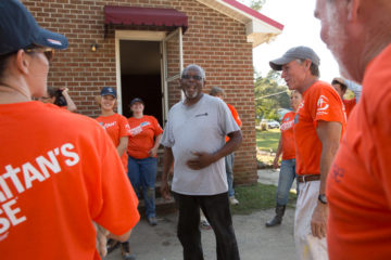 Samaritan's Purse volunteers worked on the home of Pinetops resident Willie Farmer.