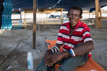 Cholera patient Jean Emilue Saintil
