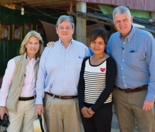 Franklin Graham and Greta Van Susteren Visit Remote Cambodian Villages