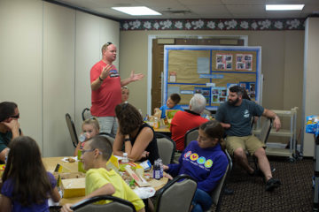 The military ministry at Johnson Ferry Baptist Church hosted a luncheon for Operation Heal Our Patriots families.