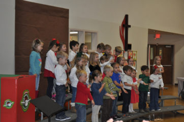 The Hibben Preschool Singers sang at the event.