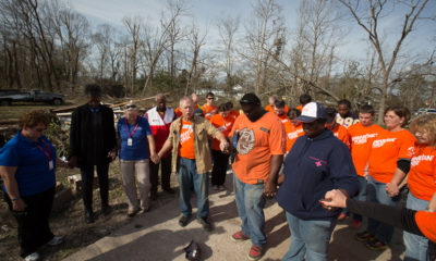 Our team served and prayed with homeowners Warren and Kayla Randle in Hattiesburg.