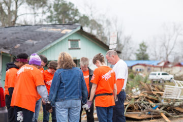 Samaritan's Purse teams are prayerfully ministering to homeowners in Mississippi.