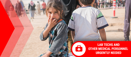 Help Families Fleeing Mosul - Medical Personnel Needed
