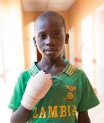 Lawrence, 12-years-old, was treated by Dr. Kerringan after a snake bite.