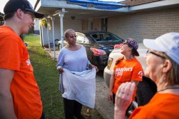 Our teams are bringing comfort to homeowners dealing with the aftermath of a rare EF3 tornado in New Orleans.