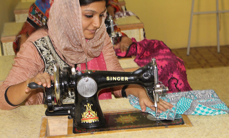 Learning vocational skills such as sewing helps women in South Asia escape poverty and provide for their families.